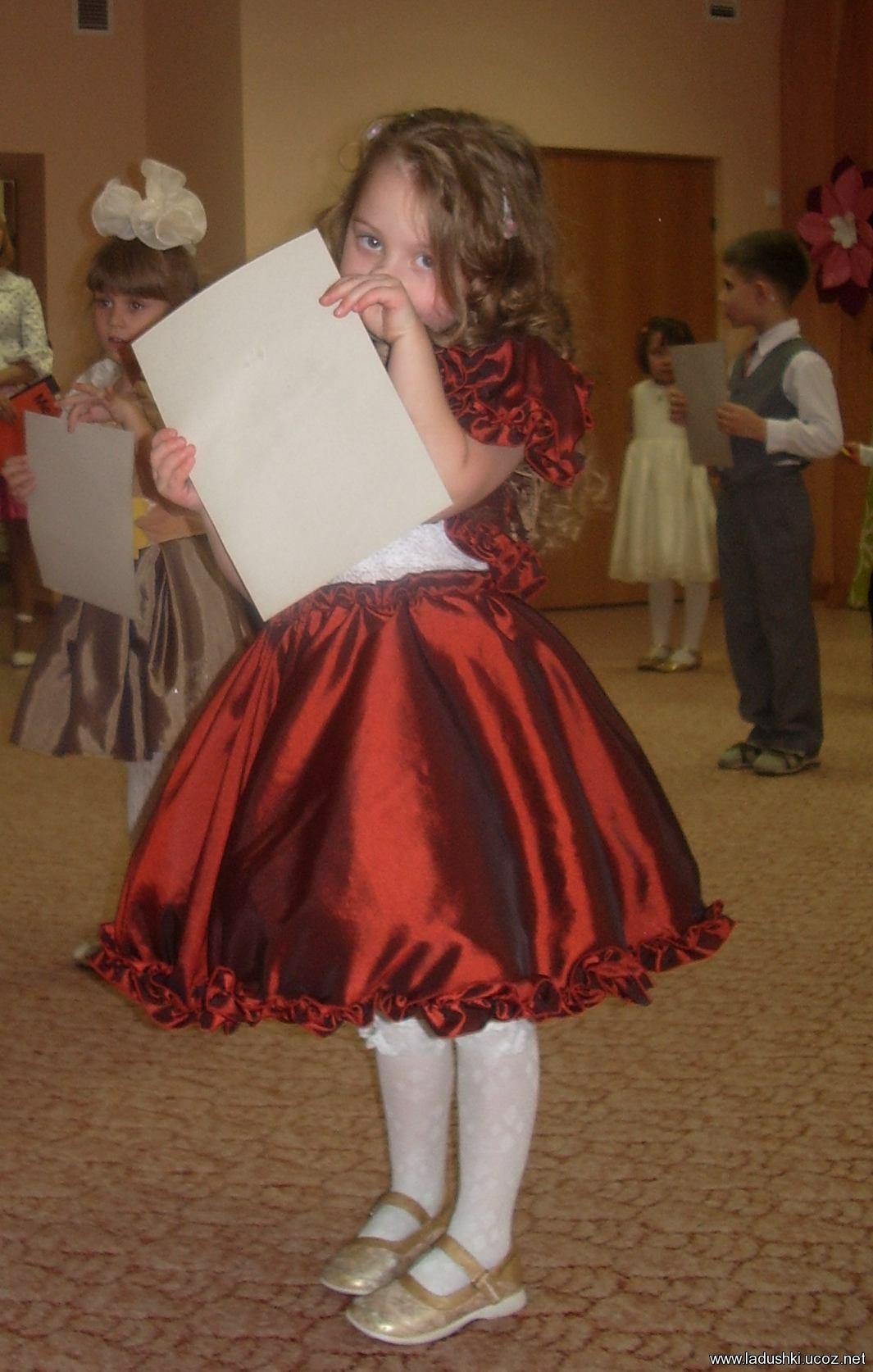 Сшить праздничное платье для девочки 41